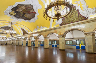 beautiful moscow metro stations