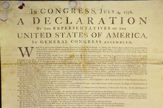 original copy of the declaration of independence
