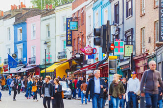 portobello road flea market in London